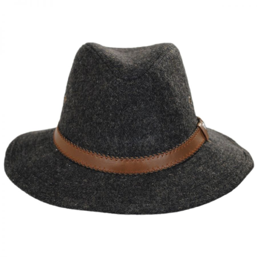 Safari Leather Band Wool Blend Western Hat in 664493548cb