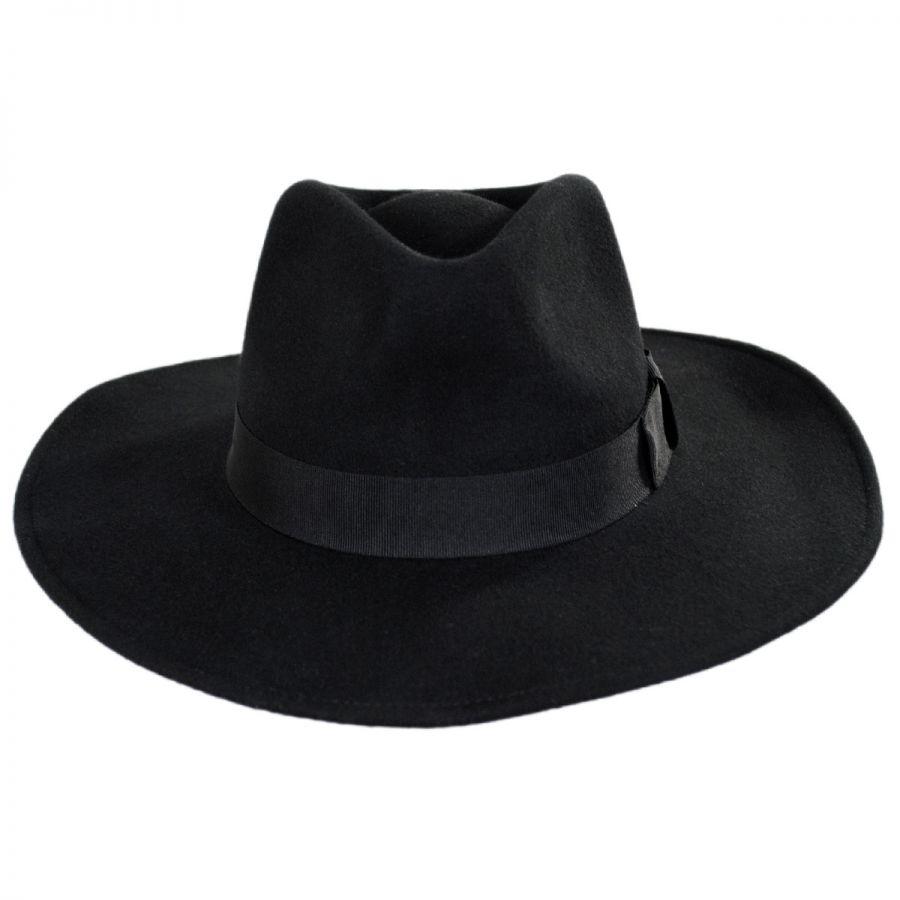 Jaxon Hats Colorado Ultra Wide Brim Crushable Wool Felt Fedora Hat ... d589b30a150