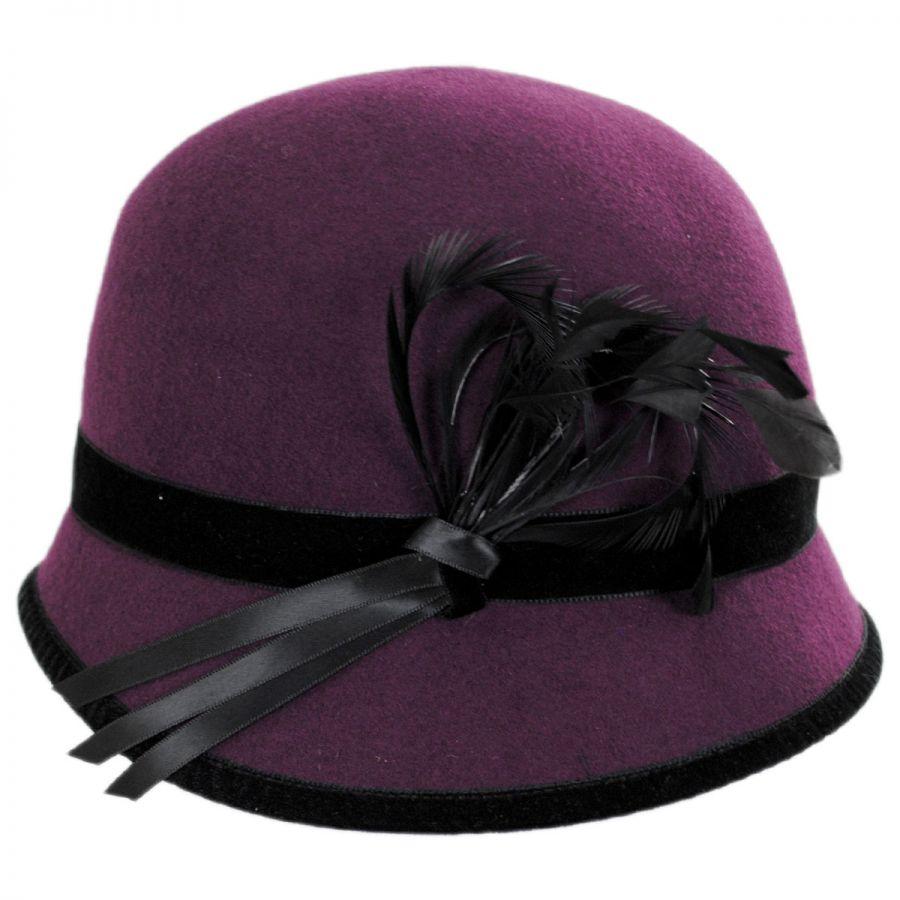 d072d3c8c8d47 Toucan Collection Feather Flapper Wool Cloche Hat Cloche   Flapper Hats