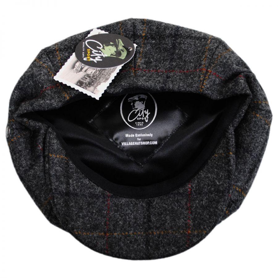 City Sport Caps British Check Wool Newsboy Cap Newsboy Caps 0d3e592318e