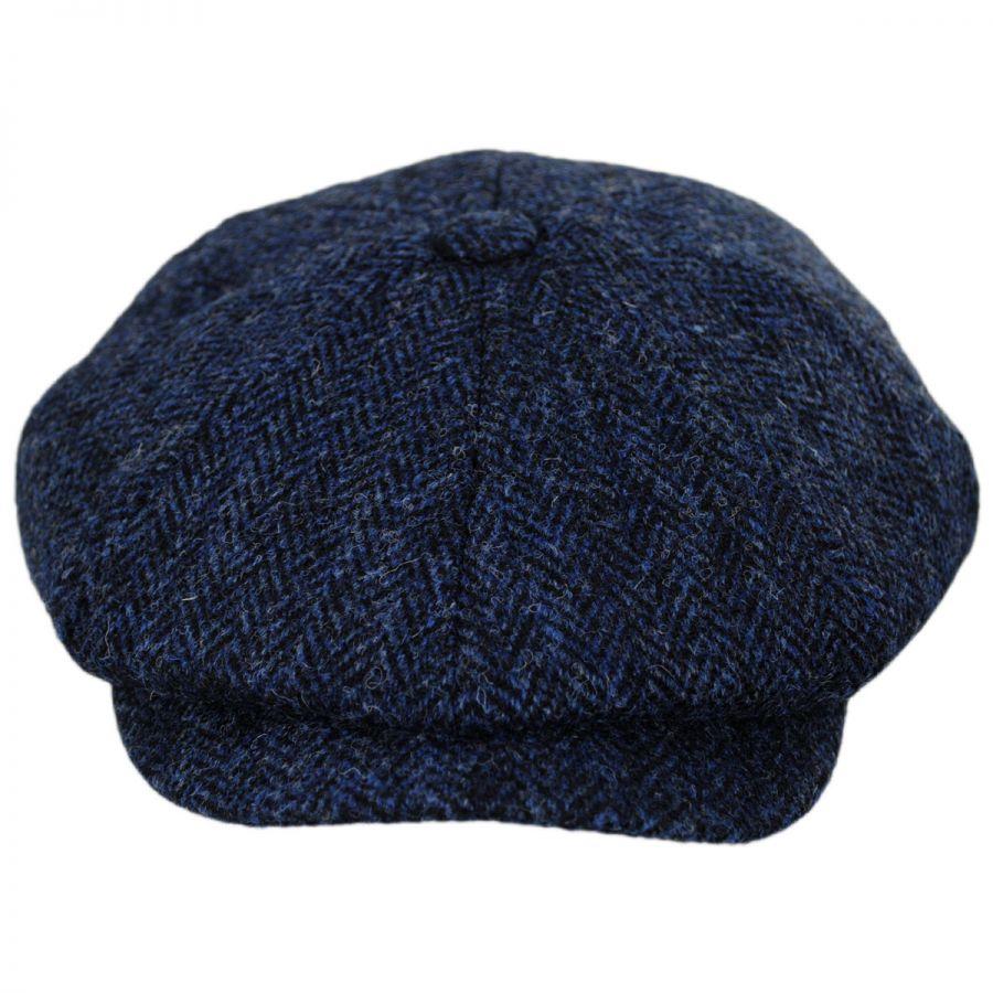 Jaxon Hats Harris Tweed Skye Wool Newsboy Cap Newsboy Caps bab640490ff