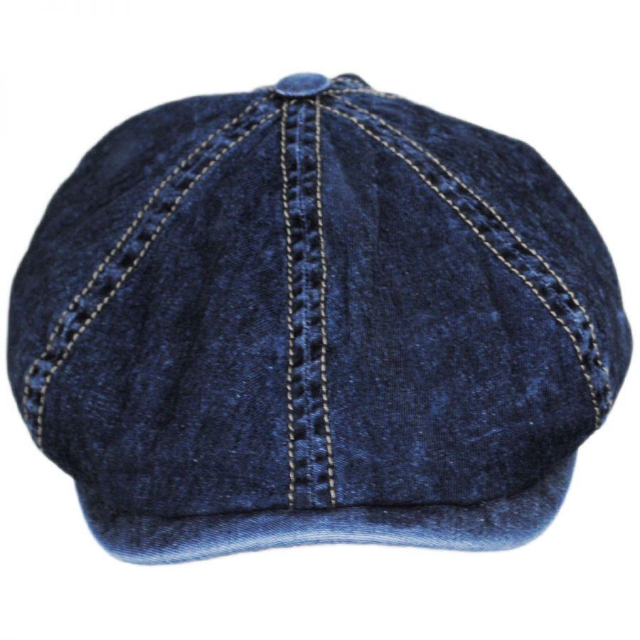 Wigens Caps Vintage Denim Cotton Blend Newsboy Cap Newsboy Caps d24176e836c