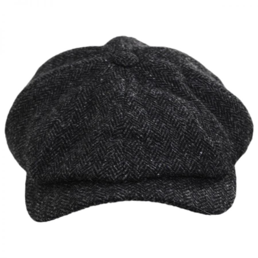 d5df4556849 Wigens Caps Classic Shetland Wool Herringbone Newsboy Cap Newsboy Caps