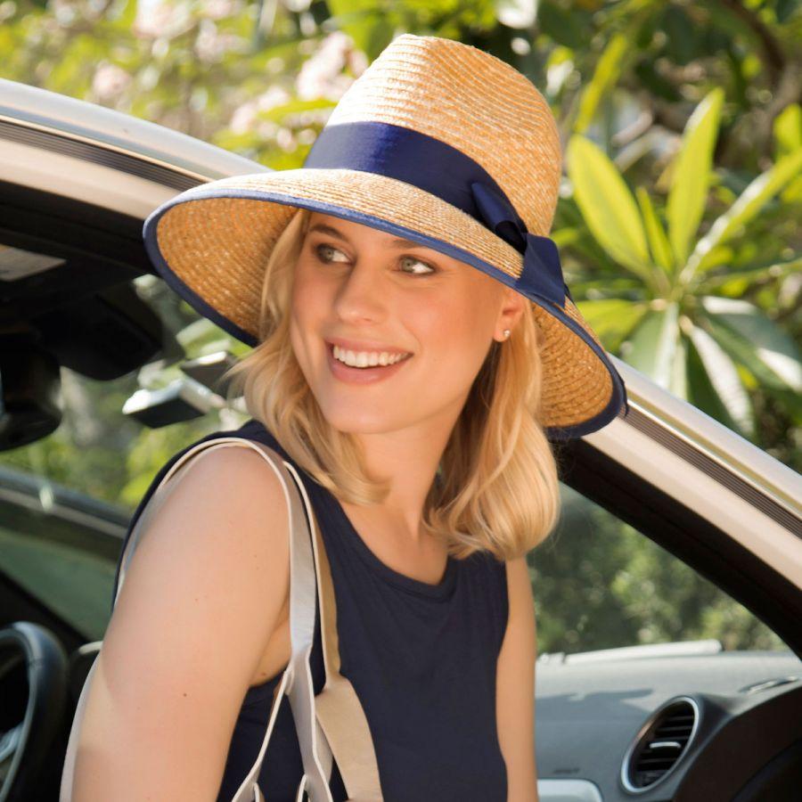 Gottex Celine Milan Straw Downbrim Fedora Hat Sun Hats dbbdaa8affb0
