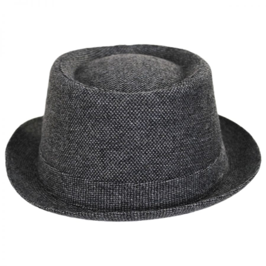Stetson Micro Herringbone Wool Blend Pork Pie Hat Pork Pie Hats a81ed7f219d