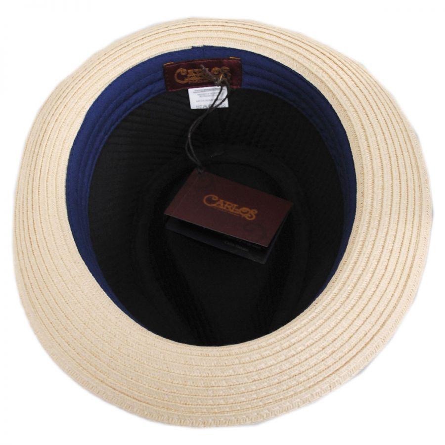 b749a36efea Carlos Santana Timbuktu Toyo Straw Blend Fedora Hat Straw Fedoras