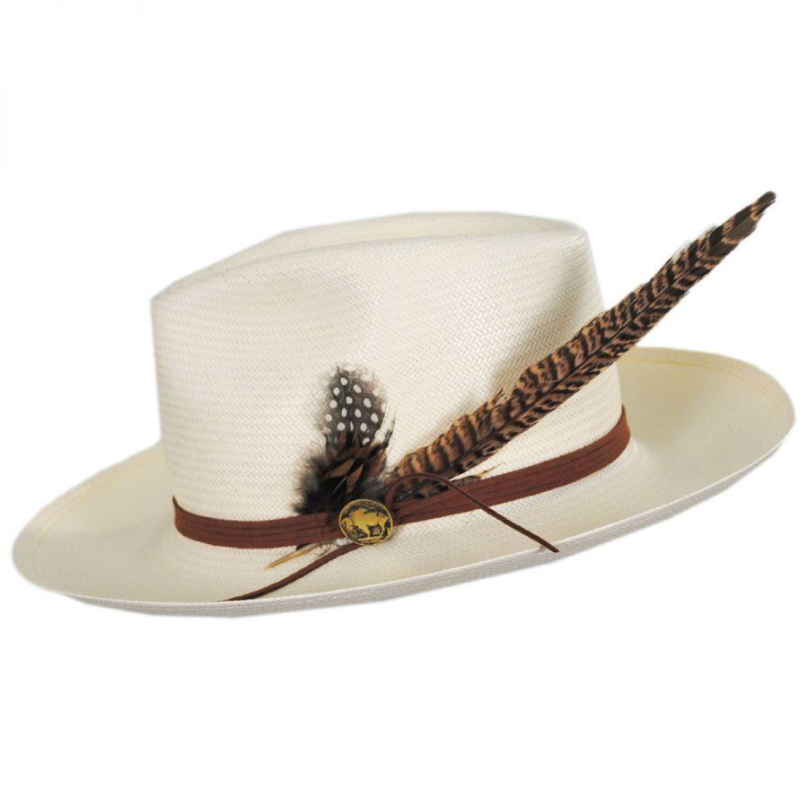Stetson Tallahassee Shantung Straw Fedora Hat Straw Hats fbca6e691656
