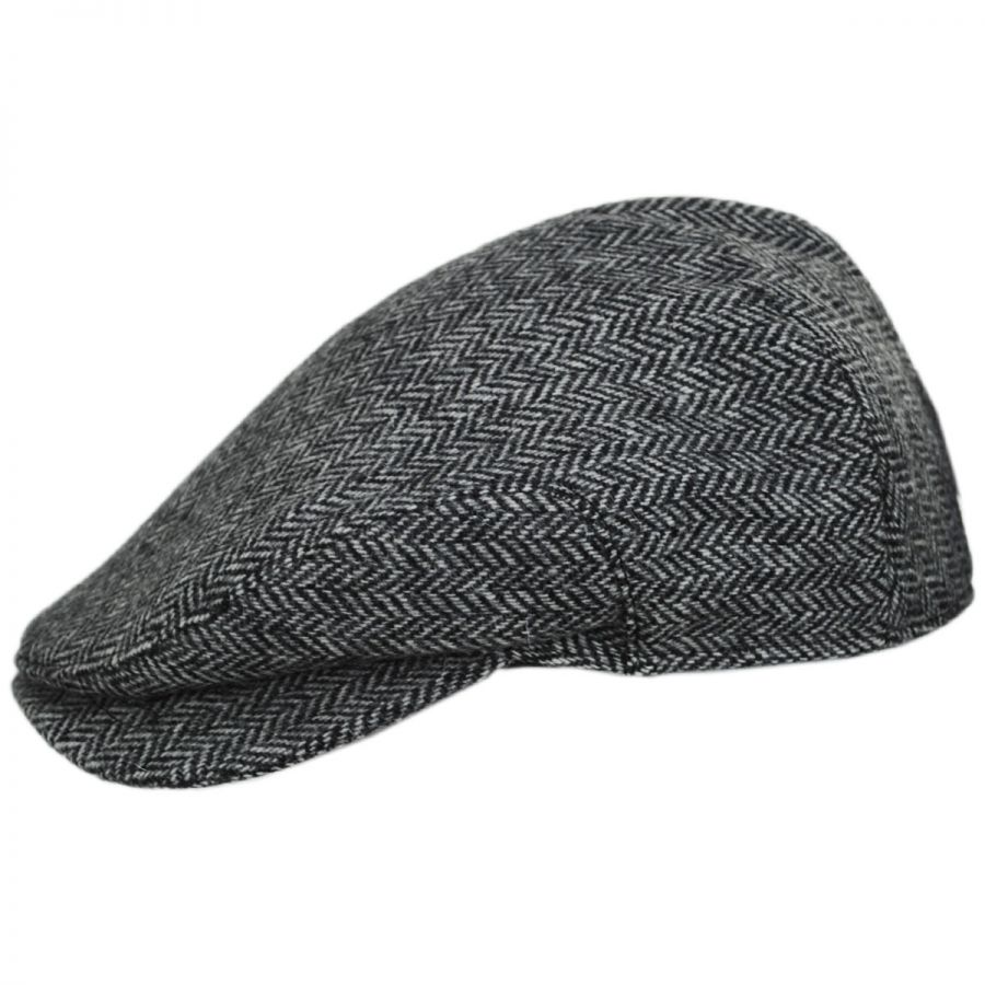 Baskerville Hat Company Chiswick Square Bill Wool Herringbone Ivy ... 0a4dedd6aed5