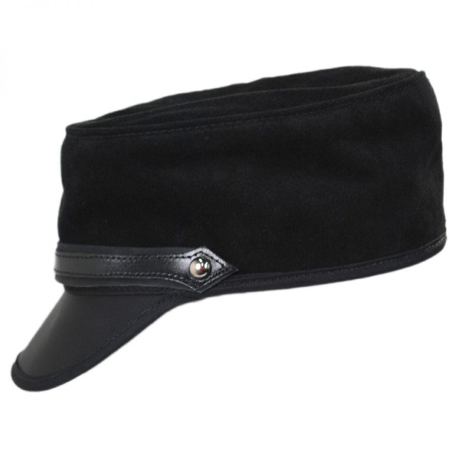 9a2ca0a83497e Head  N Home City Limits Leather and Suede Cadet Cap Cadet Caps