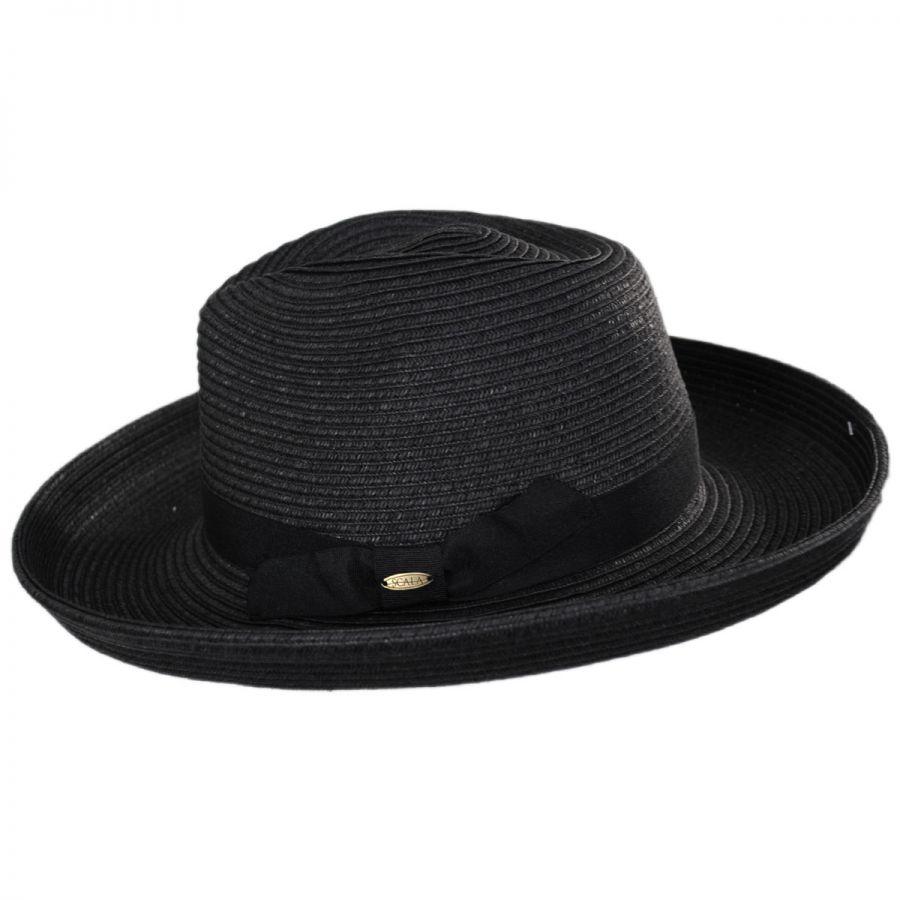 45ed36b9fad0 Scala Cumbria Toyo Straw Fedora Hat Straw Fedoras