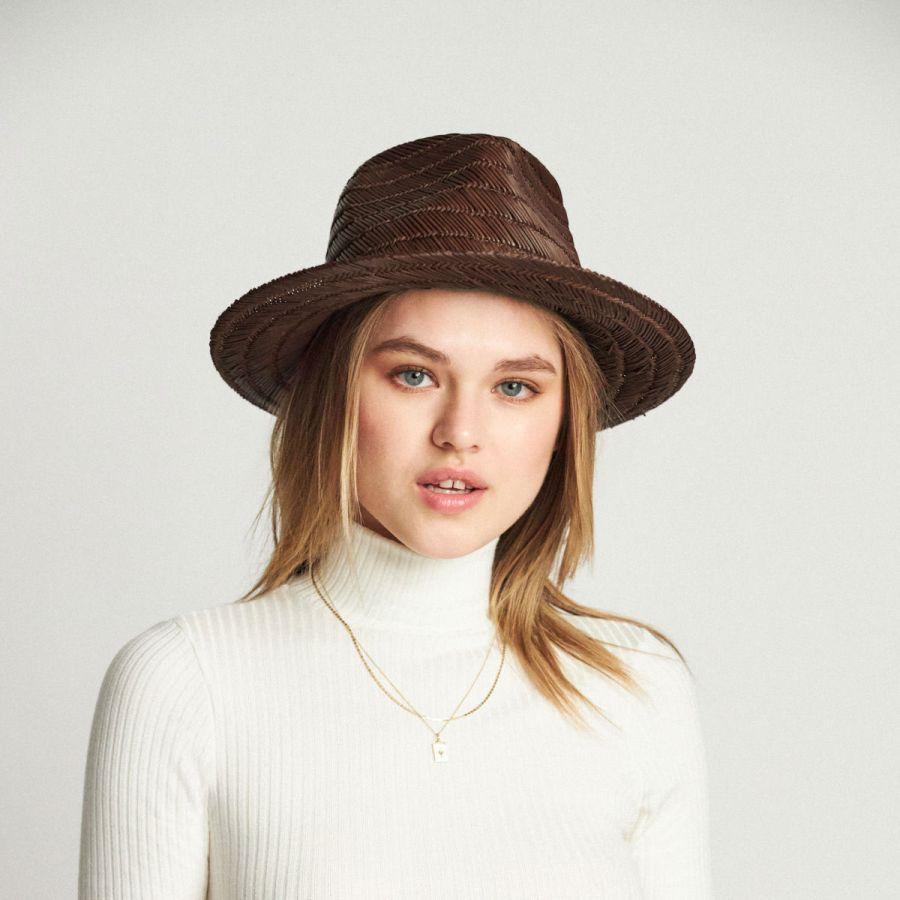 Brixton Hats Crosby Straw Fedora Hat Straw Fedoras f10fea12f583