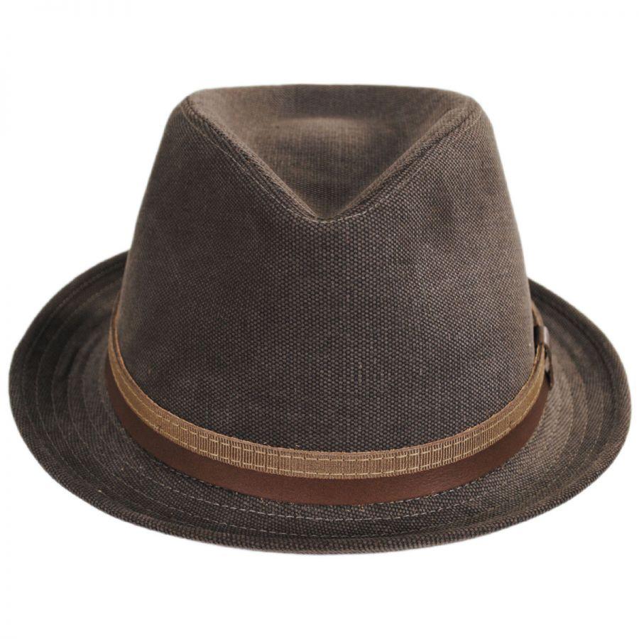 f4192484819 Stefeno Montini Cotton Stingy Brim Fedora Hat All Fedoras