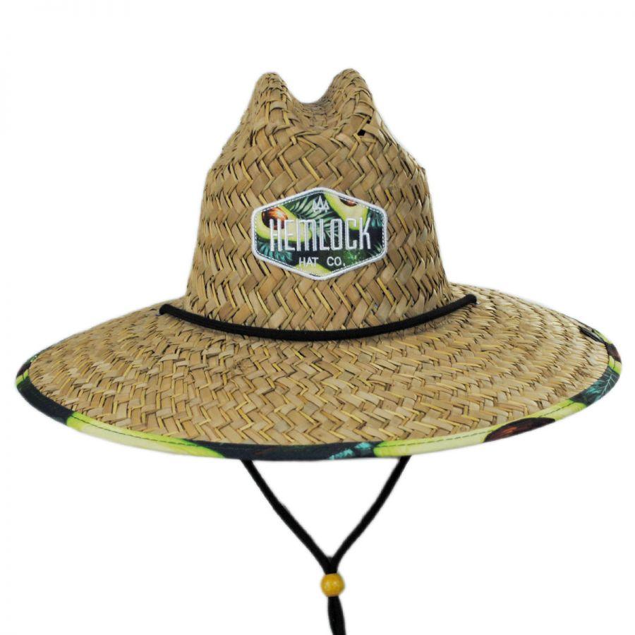 24604e95 Avocado Straw Lifeguard Hat