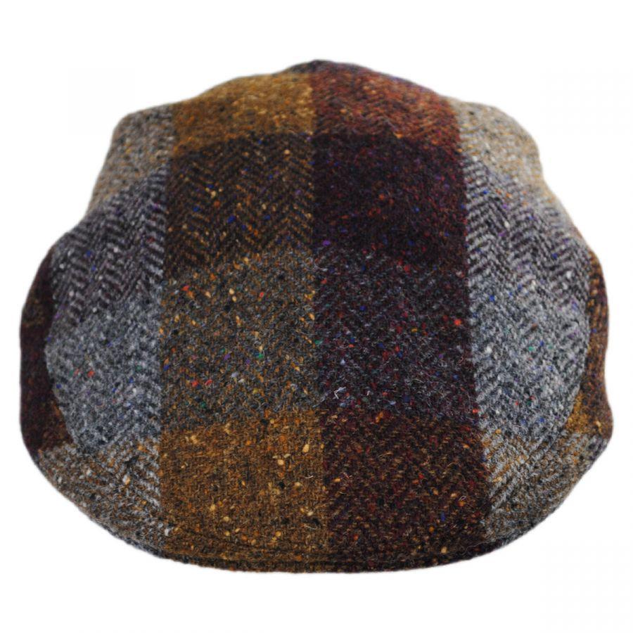 a2564db9 Herringbone Squares Donegal Tweed Wool Ivy Cap