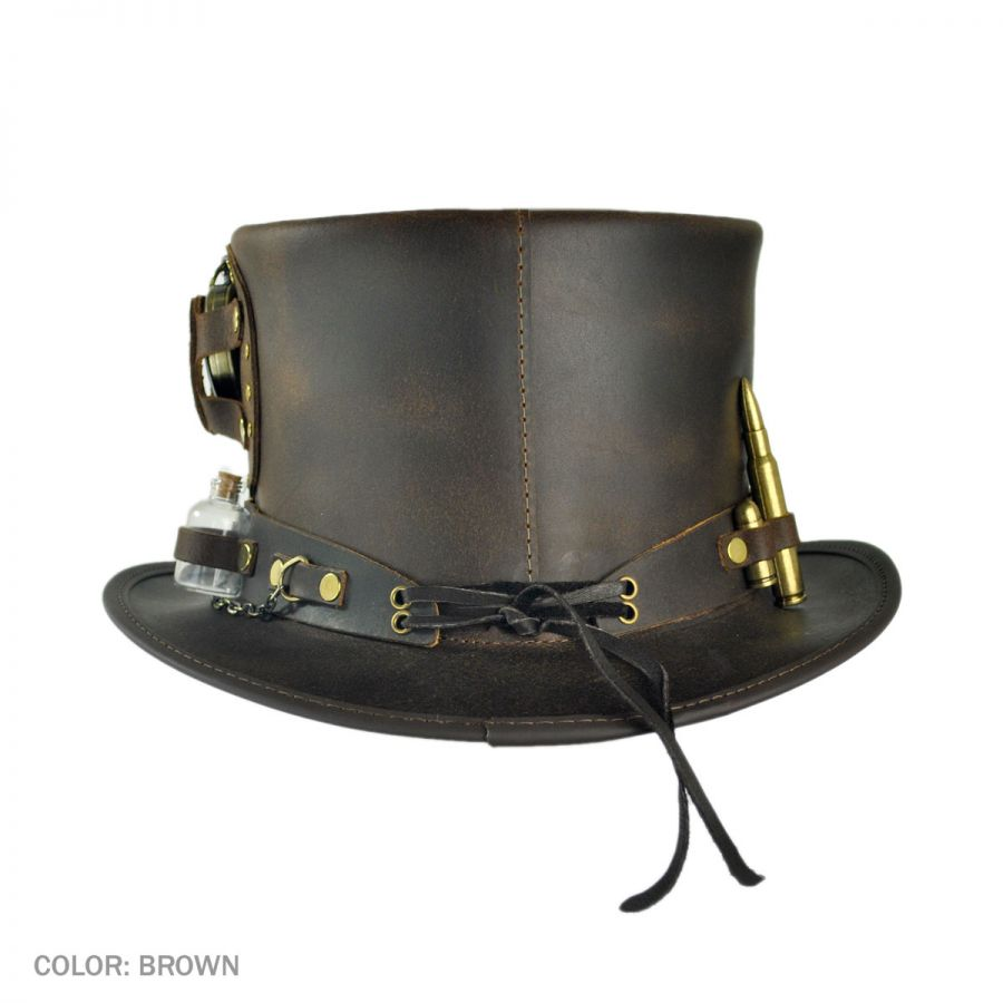 399d2987869 Head  N Home Time Port Leather Top Hat Top Hats