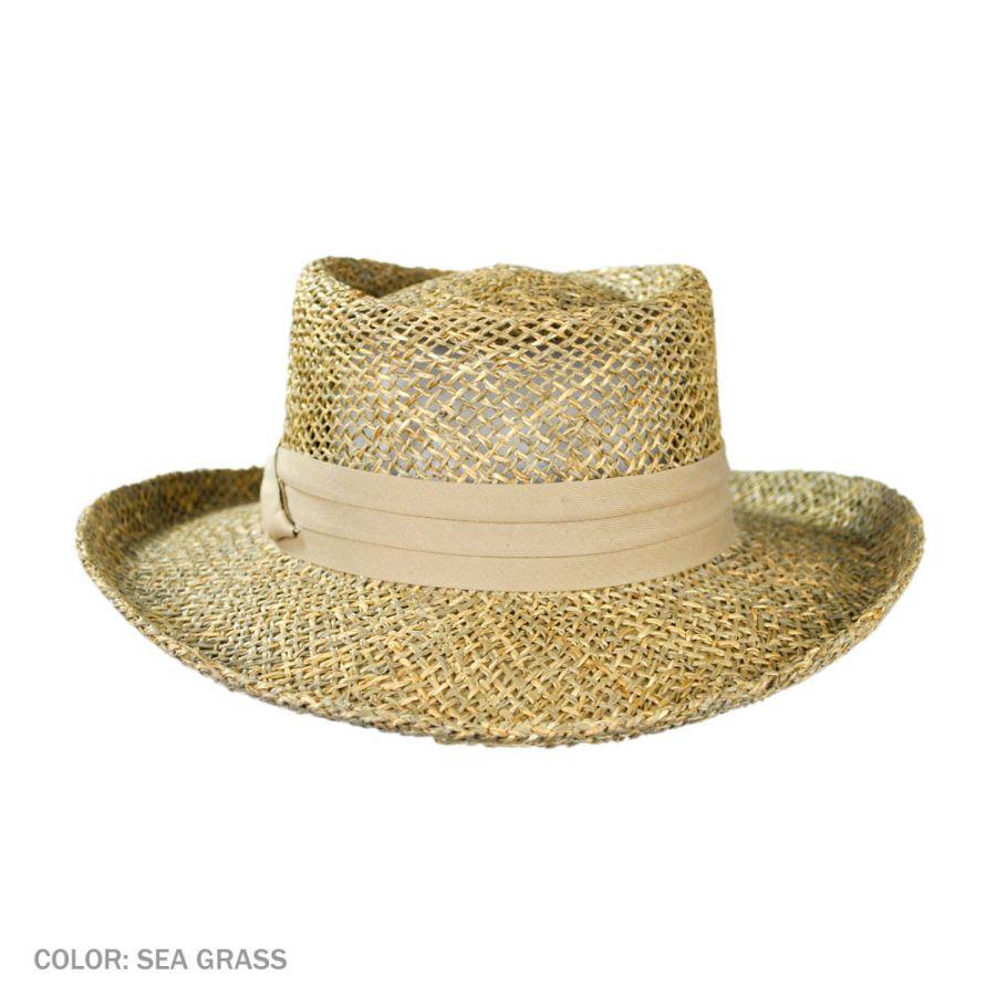 Gambler Straw Hat: Jaxon Hats Pebble Beach Seagrass Straw Gambler Hat Straw Hats