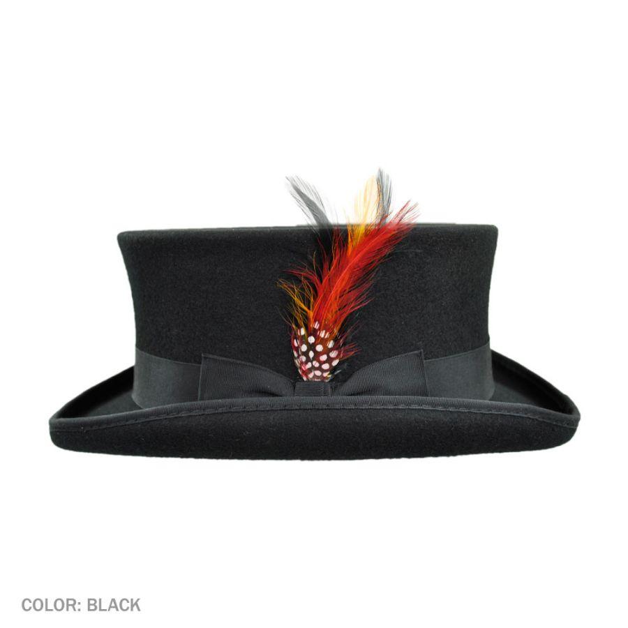 Jaxon Hats Deadman Wool Felt Top Hat Top Hats 8b9efd51f479