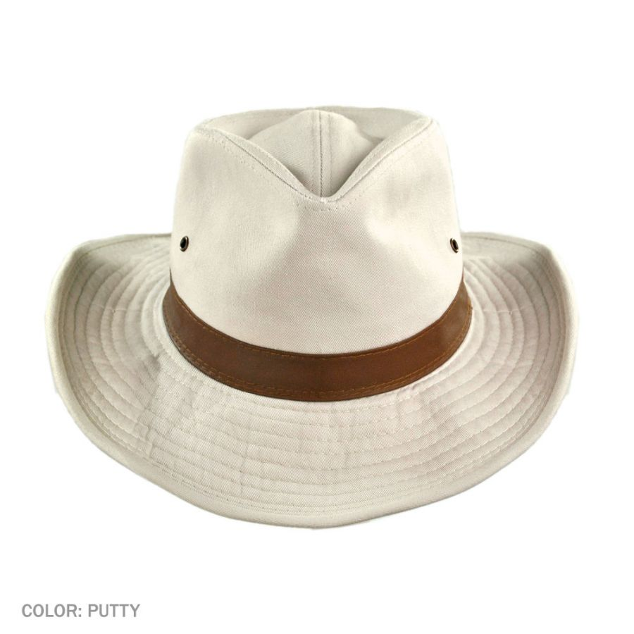 Cotton Twill Outback Fedora Hat in · Cotton Twill Outback Fedora Hat in. Dorfman  Pacific Company a88255eb6a2