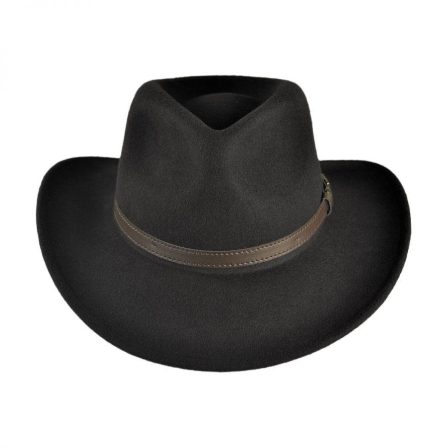 Jaxon Hats Crushable Wool Felt Outback Hat Crushable e11875cd945a