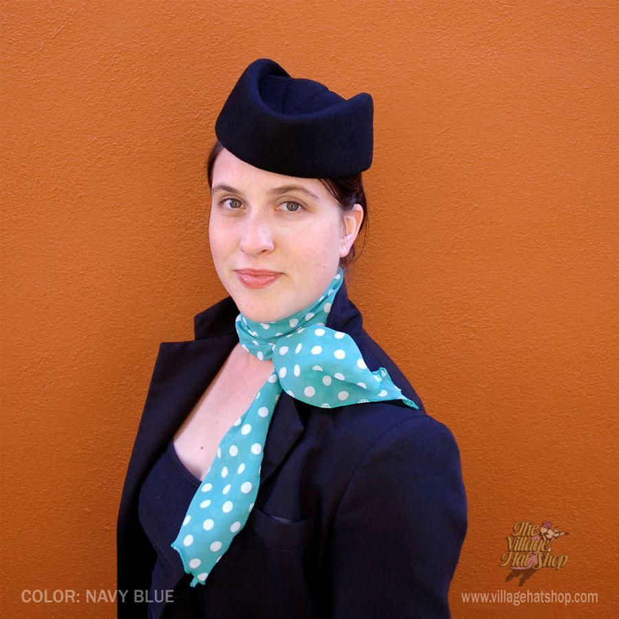 sur la tete Stewardess Wool Pillbox Hat Pillbox Hats 25eb9dc8c55