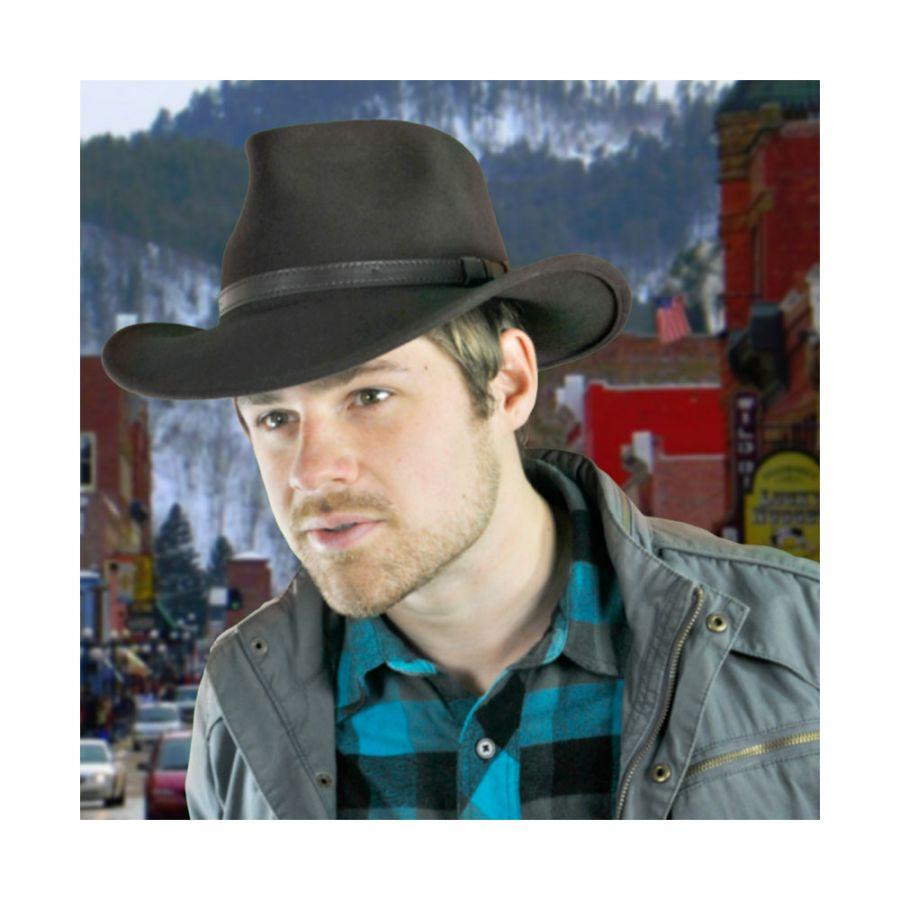 f7aa7a18cf1 Jaxon Hats Crushable Wool Felt Outback Hat Crushable