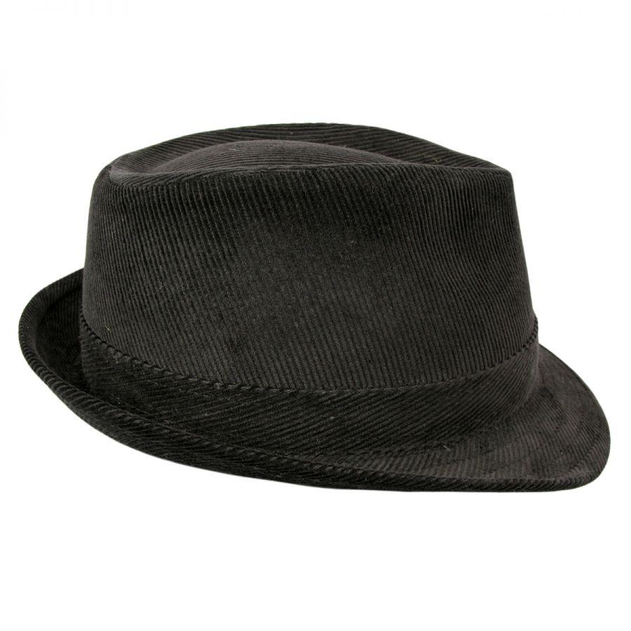 dc4cecb31be Jaxon Hats Corduroy C-Crown Trilby Fedora Hat All Fedoras