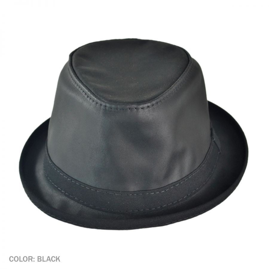 Head  N Home Soho Crushable Leather Trilby Fedora Hat Leather Fedoras 363ff7e5f09