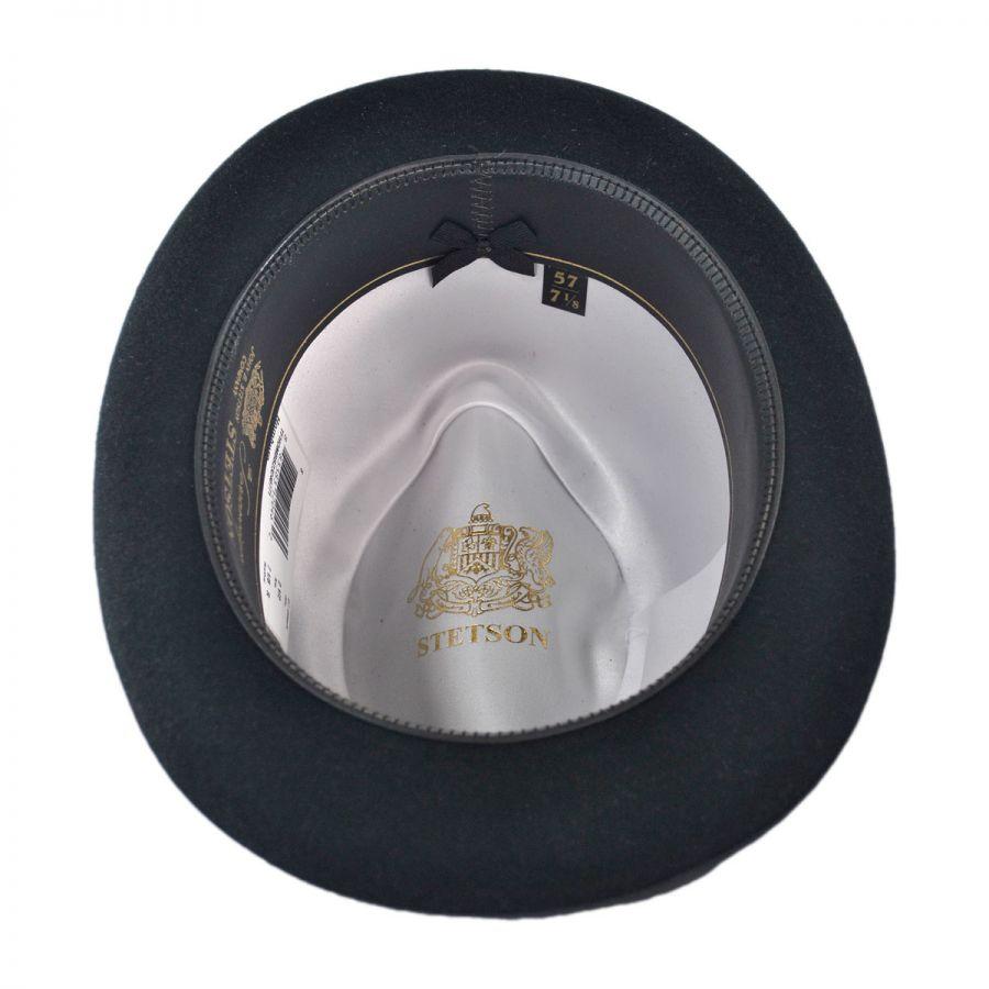 1762bb47c9b56 Stetson Fur Felt Homburg Hat All Fedoras