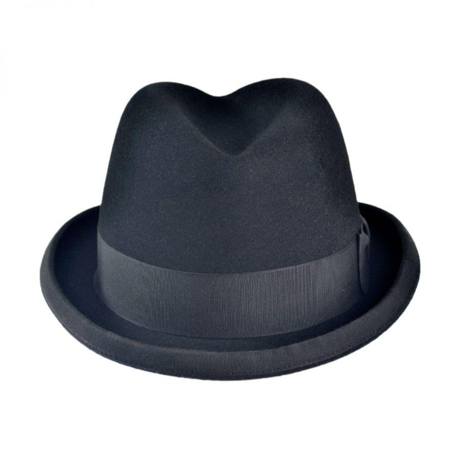 2b68107c5bf6f Stetson Fur Felt Homburg Hat All Fedoras