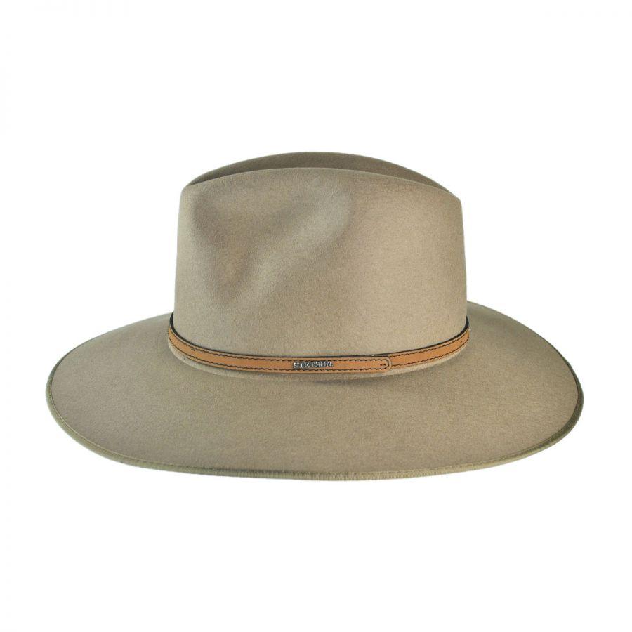 526f2723bcbde6 Stetson Spencer Crushable Wool Felt Aussie Hat All Fedoras