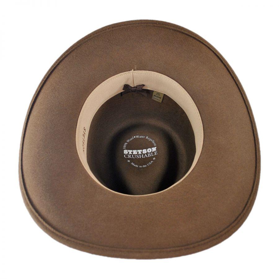 Stetson Mountain Sky Crushable Outback Hat All Fedoras b148baf6a3e9