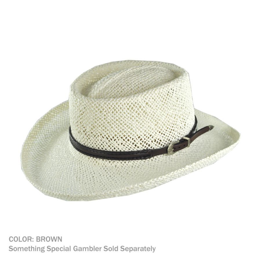 Buckle Hats: Head 'N Home Whipstitch Buckle Leather Hat Band Hat Bands