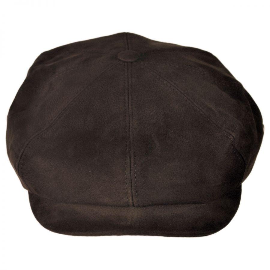 City Sport Caps Matte Nappa Leather Newsboy Cap Flat Caps (View All) f9b4022a206