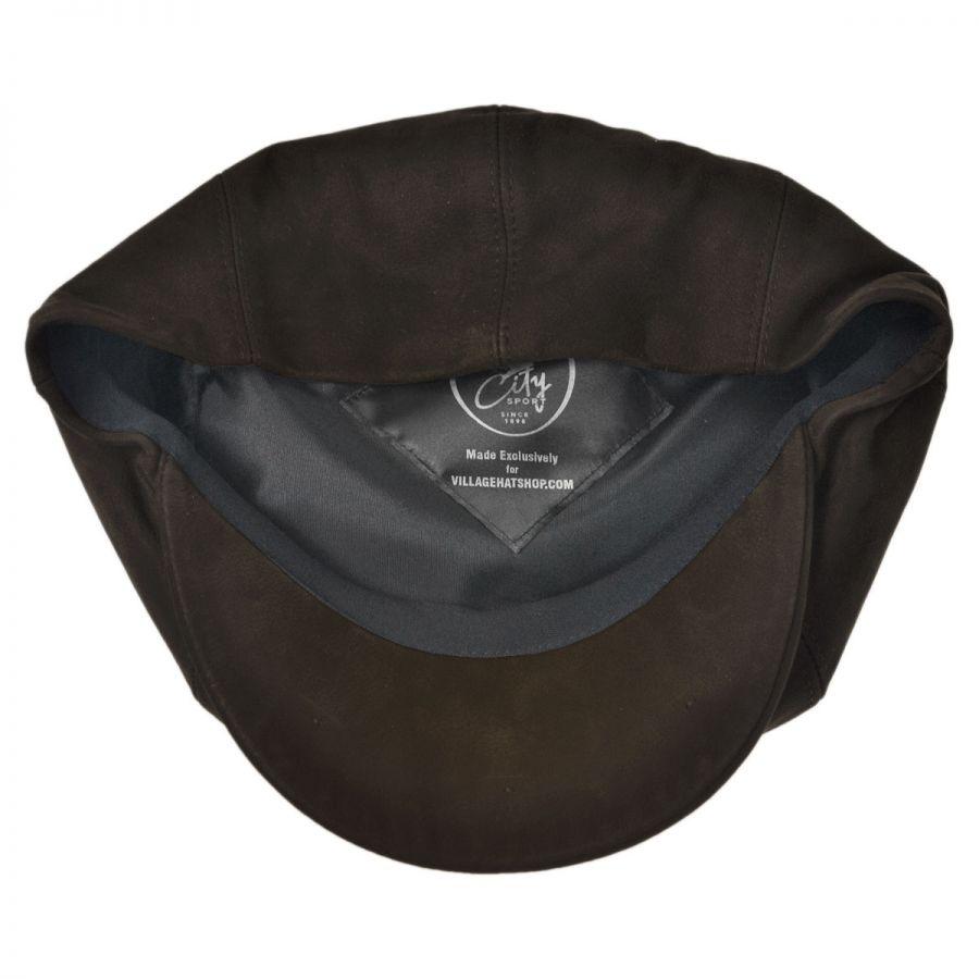 City Sport Caps Matte Nappa Leather Newsboy Cap Flat Caps (View All) 1f0984693