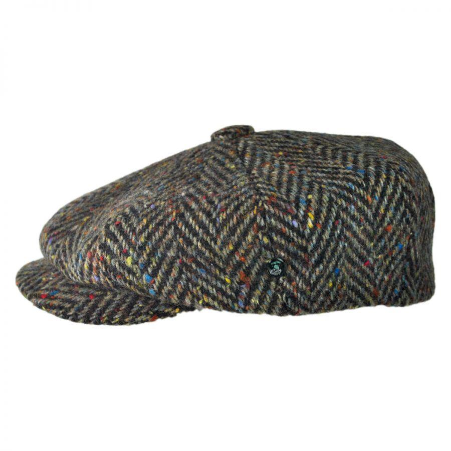 2865f62fe94 City Sport Caps Large Herringbone Donegal Tweed Wool Newsboy Cap ...