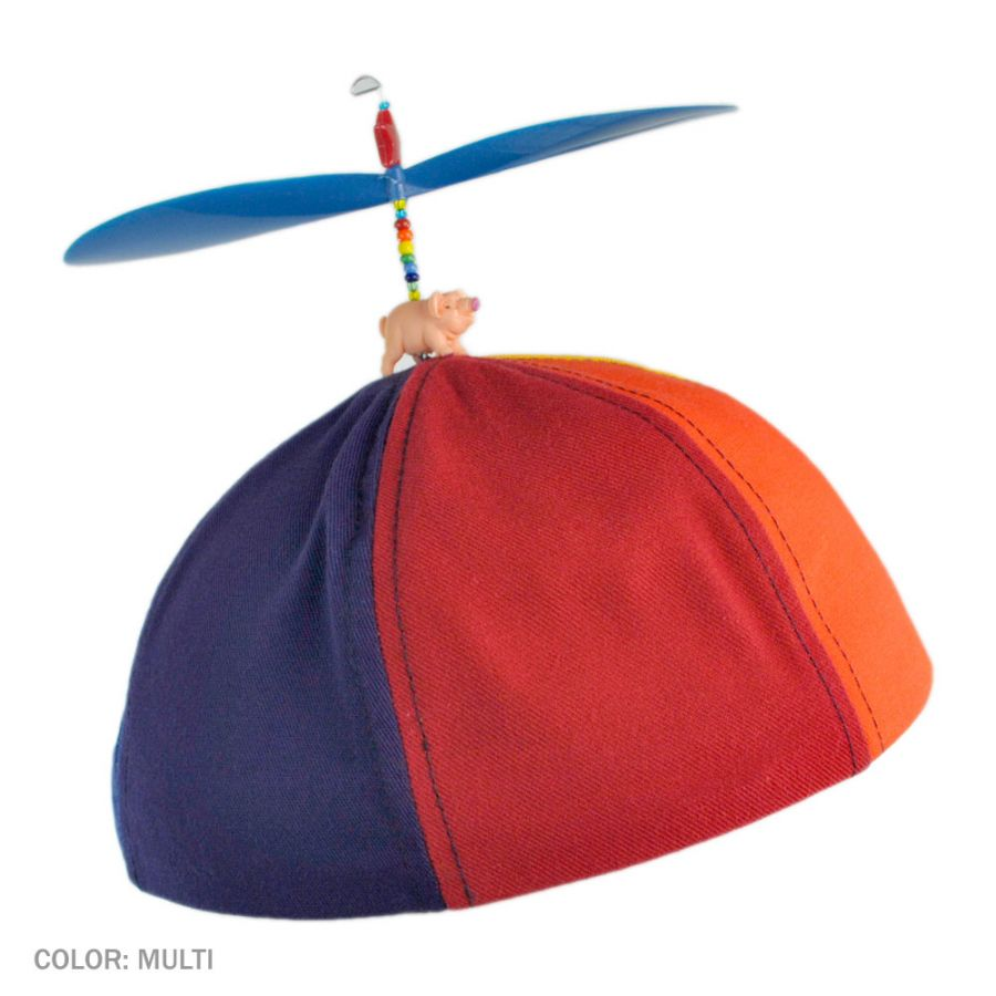 1 KIDS SIZE SPINNING PROPELLER HAT new novelty baseball cap childrens BALL CAPS