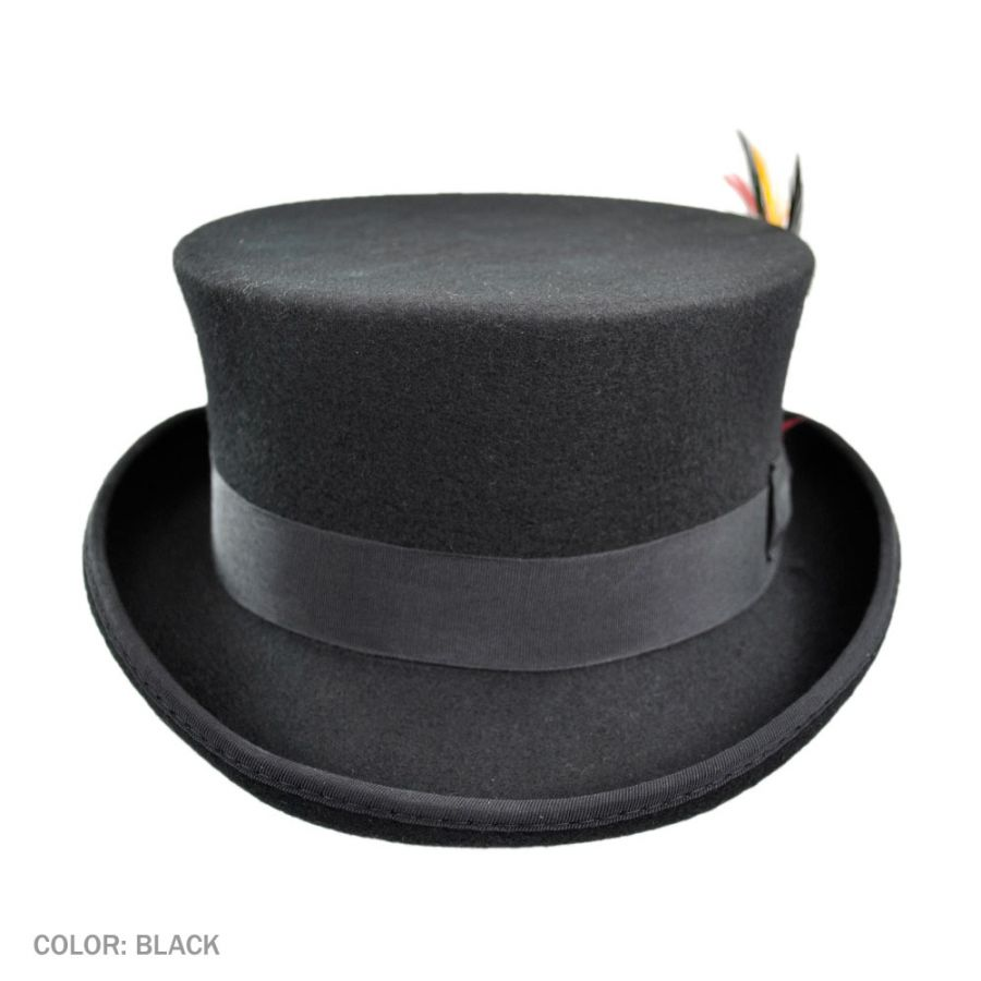 6053847bfd7 Jaxon Hats Deadman Wool Felt Top Hat Top Hats