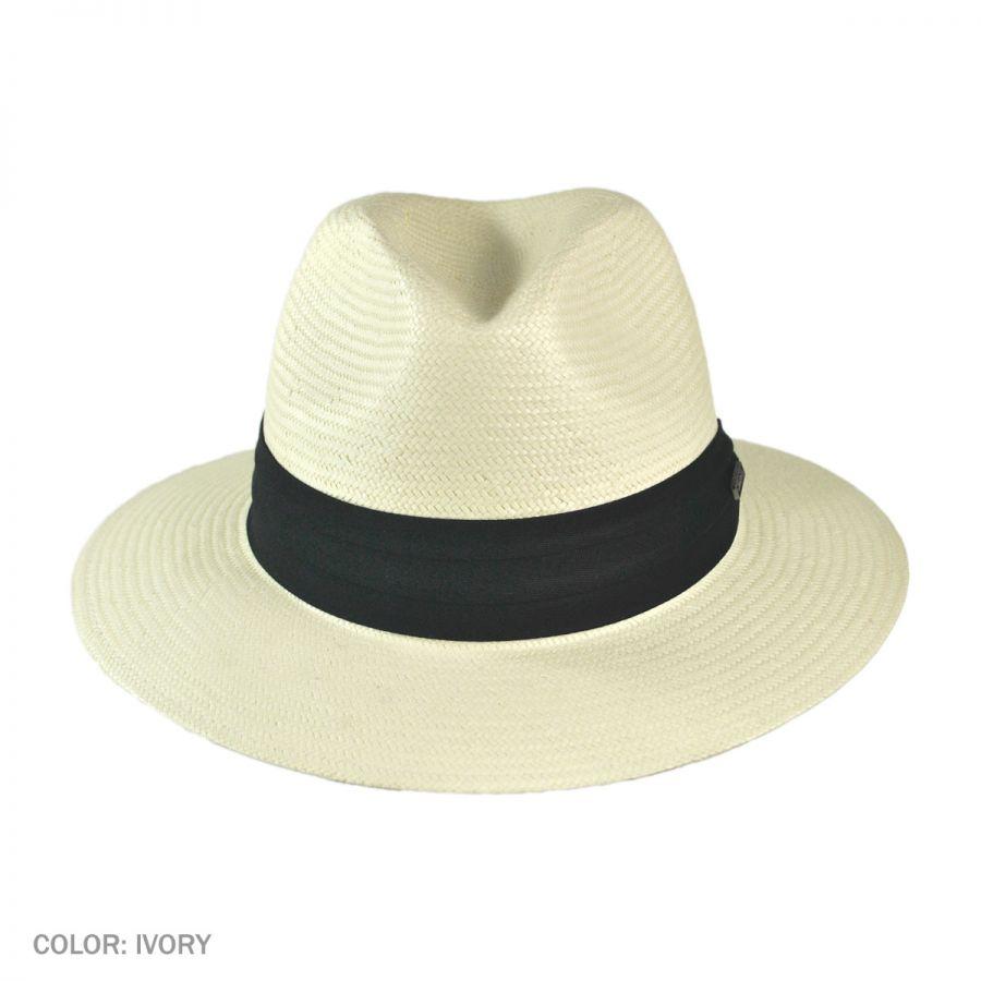 50bc5ca735b Jaxon Hats Toyo Straw Safari Fedora Hat - Black Band All Fedoras