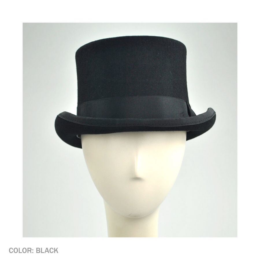 152ac10b3983b Jaxon Hats Mid Crown Wool Felt Top Hat Top Hats