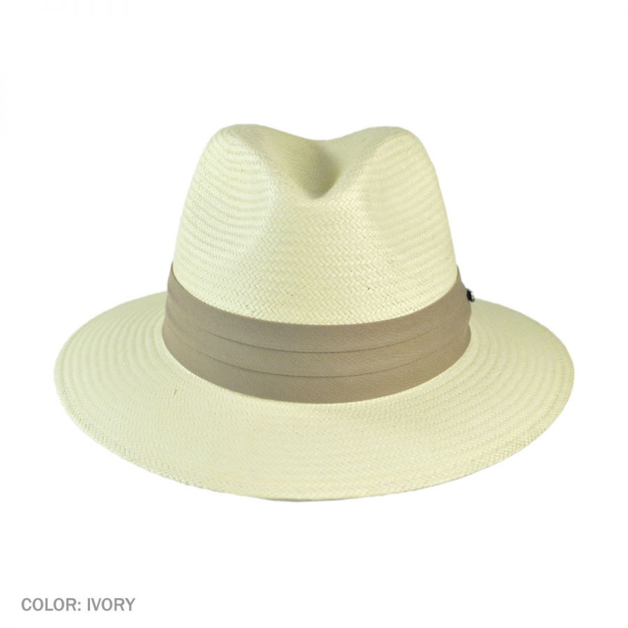 Jaxon Hats Toyo Straw Safari Fedora Hat - Khaki Band All Fedoras dc631ee5c92