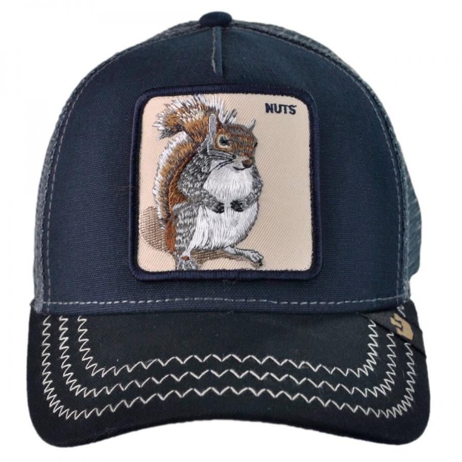 87bac8d9 Goorin Bros Squirrel Nuts Mesh Trucker Snapback Baseball Cap ...