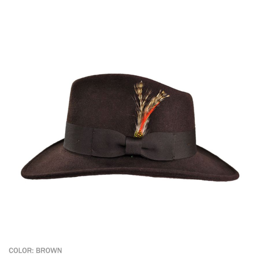 e883102e11856 Jaxon Hats Ford Crushable Wool Felt Fedora Hat All Fedoras