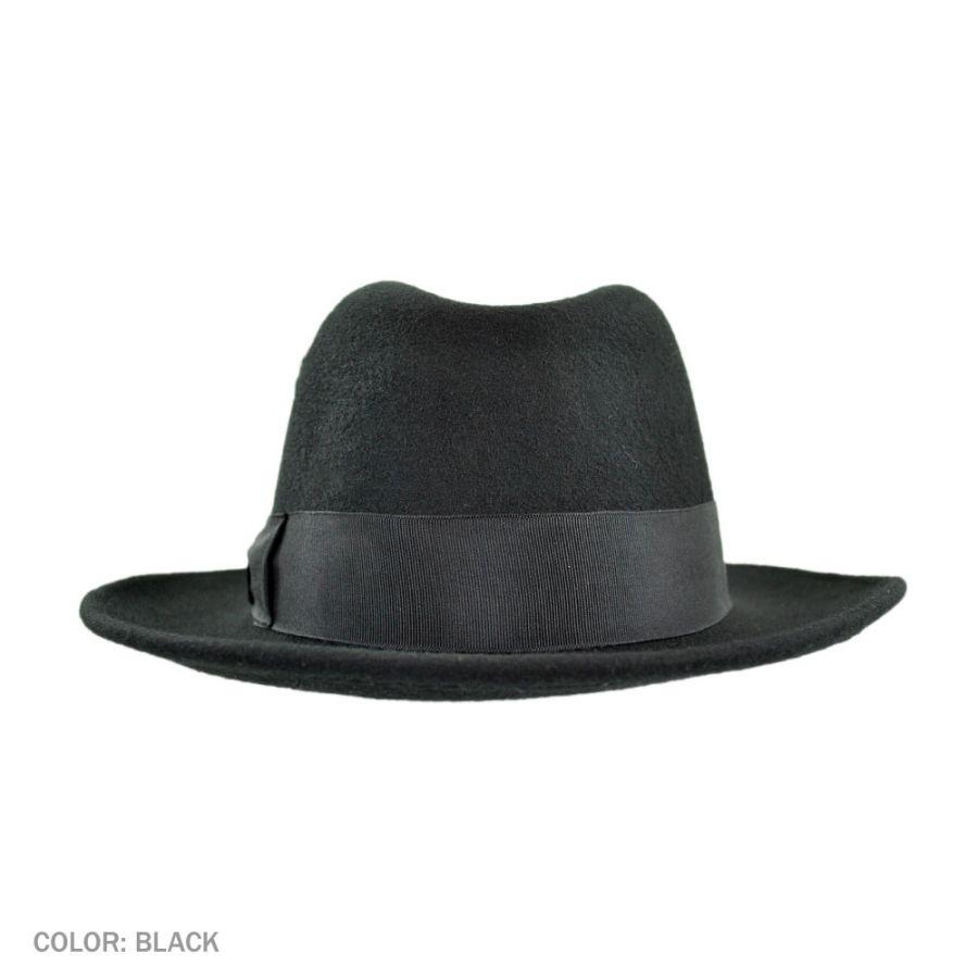 cd48f4397c9 Jaxon Hats Pinch Crown Crushable Wool Felt Fedora Hat All Fedoras