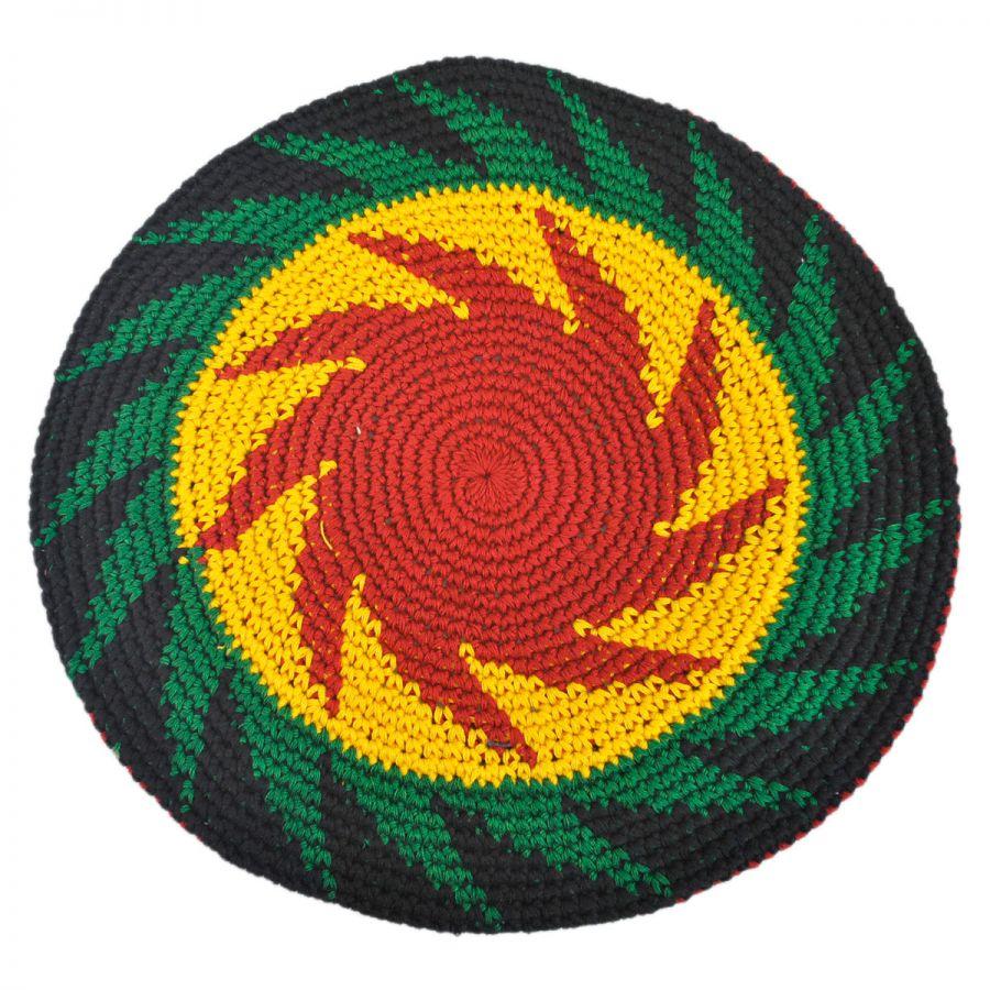 8a6e2aef0b2 Philadelphia Rapid Transit Rasta Crocheted Cotton Beret Berets