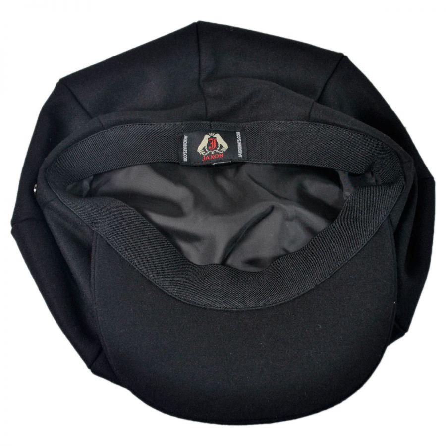 87379405298 Jaxon Hats Wool Blend Solid Big Apple Cap Newsboy Caps