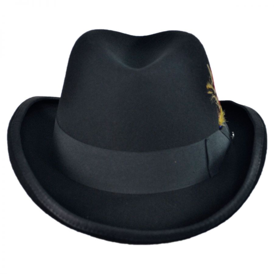 Jaxon Hats Wool Felt Homburg Hat Derby   Bowler Hats 59ca575f5d80