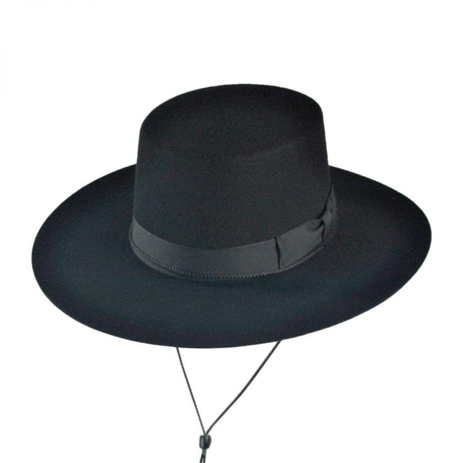 71812f22a77ca B2B Jaxon Classics Bolero Hat - Made in the USA (Black) Historical Hats