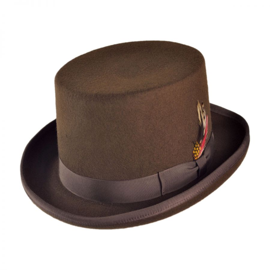 B2B Jaxon Classics Top Hat - Made in the USA (Brown) Top Hats 641647a7f7