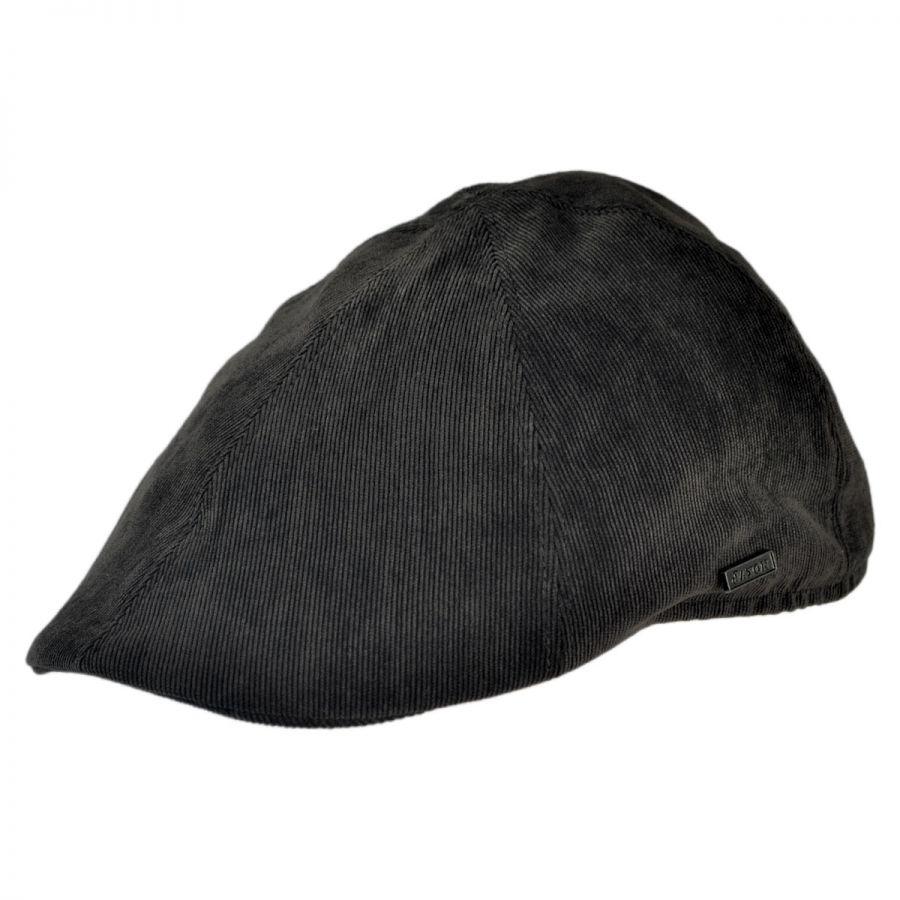 B2B Jaxon Corduroy Duckbill Ivy Cap (Black) Flat Caps cf17b69164a