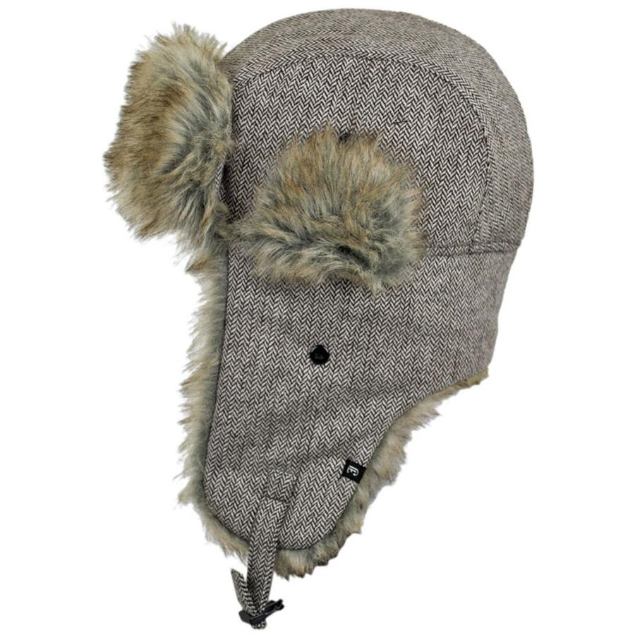 c733e490943ae B2B Jaxon Brown Herringbone Trapper Hat Trapper Hats